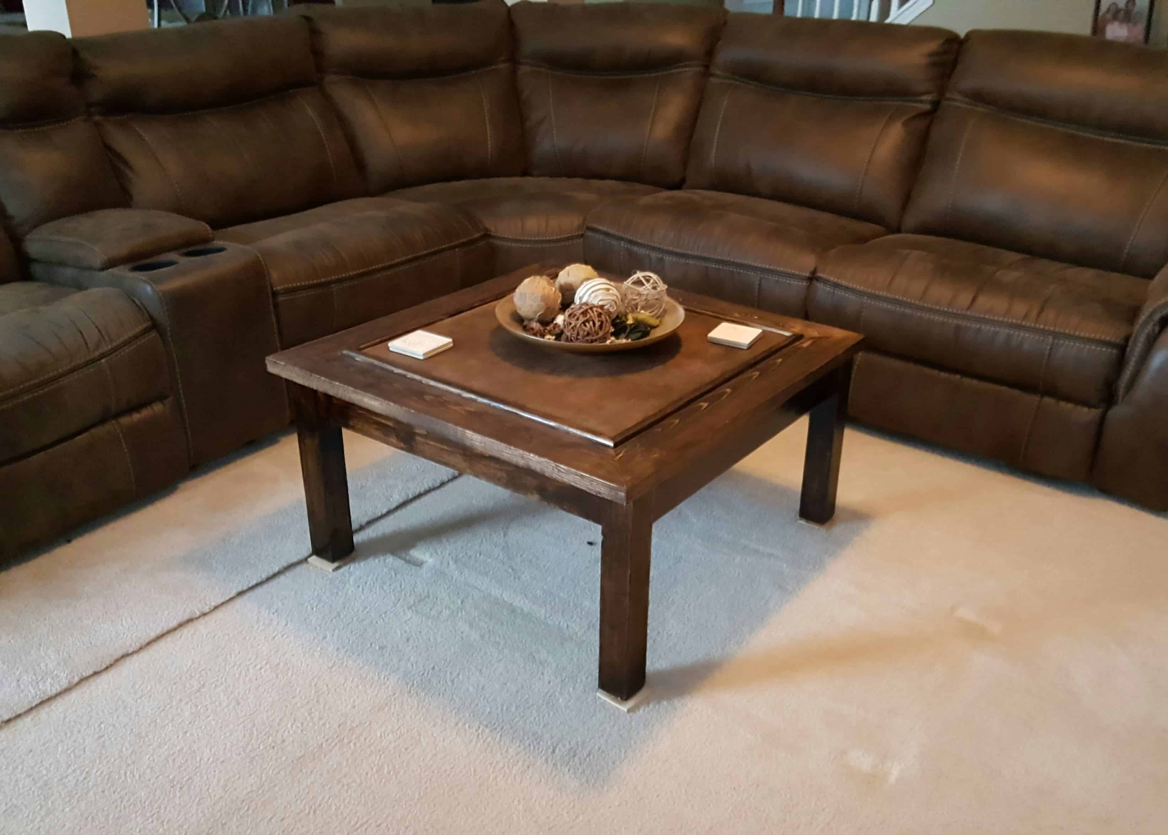 Fabric Inlay Pallet Coffee Table 1001 Pallets