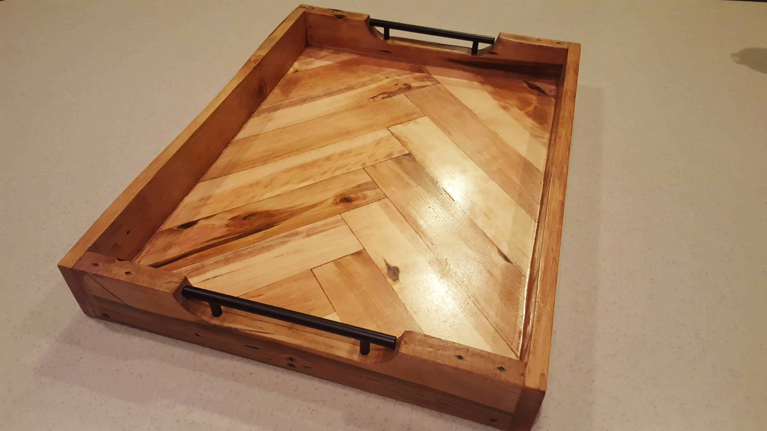 How To Make A Pallet Herringbone Serving Tray In 20 Steps Ideas 1001 Pallets