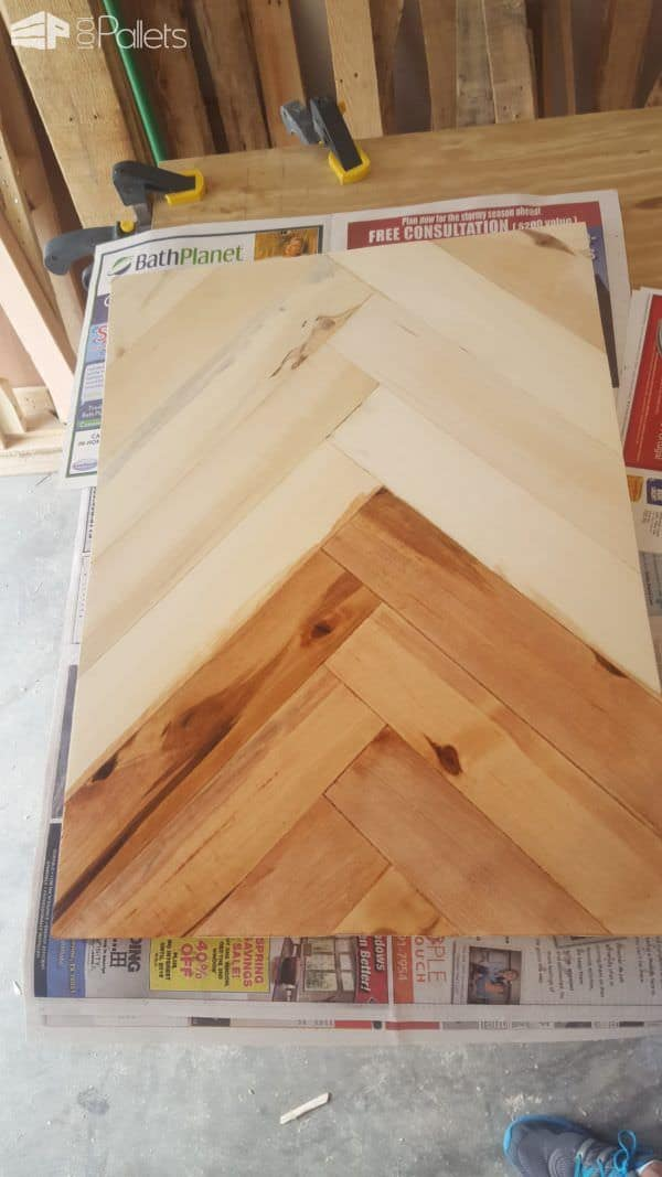 How to Make a Pallet Herringbone Serving Tray in 20 Steps Pallet Home Accessories
