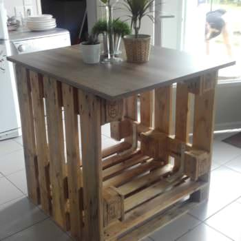 îlot Central Cuisine / Pallet Kitchen Island