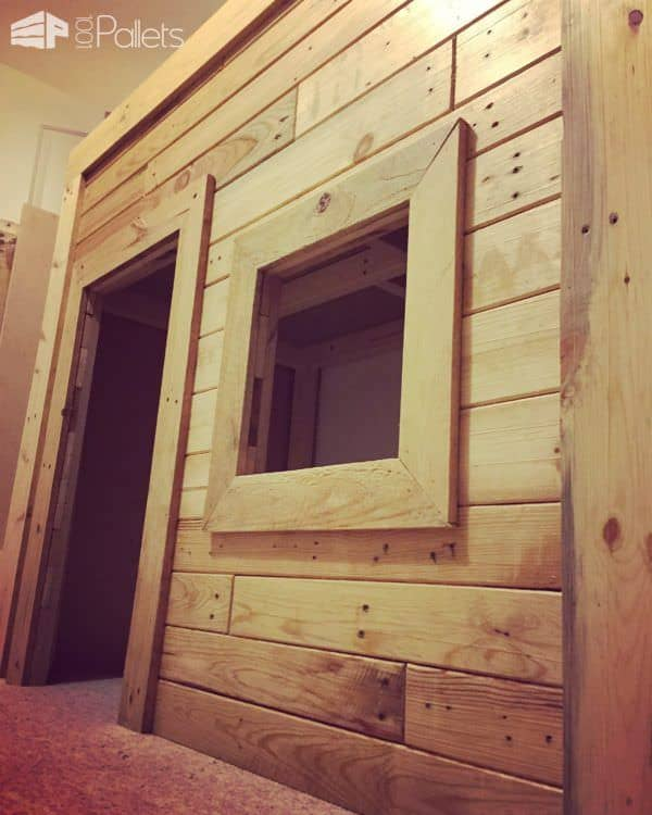 Kids Pallet Bed/Playhouse DIY Pallet Bed Headboard & FrameFun Pallet Crafts for Kids