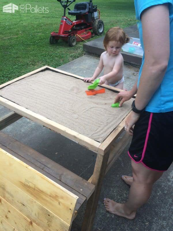 Kids Pallet Sandbox Picnic Table Fun Pallet Crafts for KidsPallet Desks & Pallet Tables
