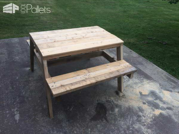 Kids Pallet Sandbox Picnic Table Fun Pallet Crafts for Kids Pallet Desks & Pallet Tables