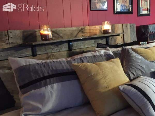 King-size Pallet Bed DIY Pallet Bed Headboard & Frame