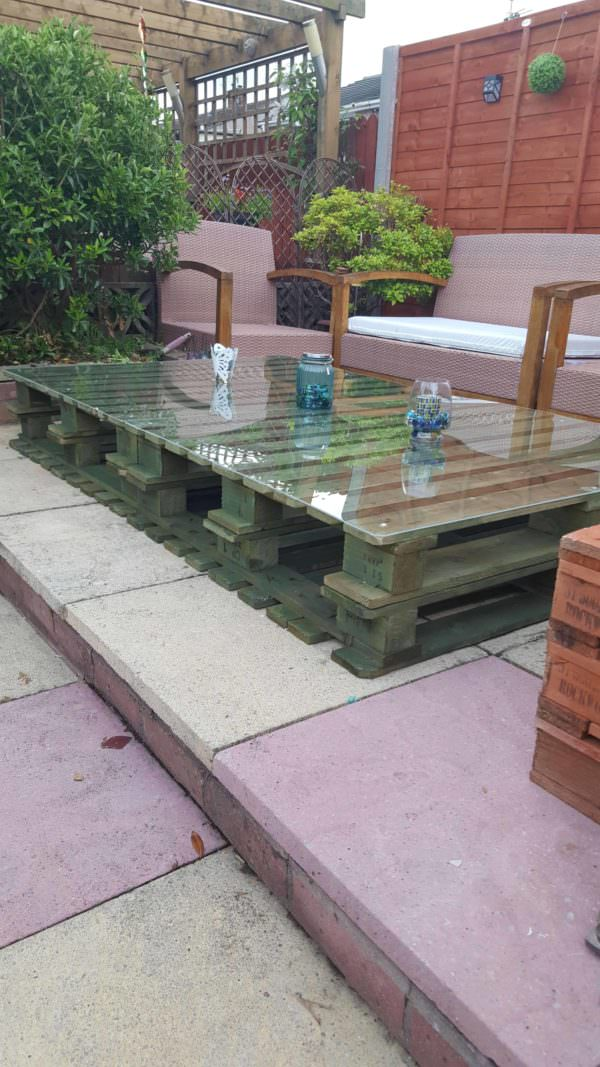Lucite-topped Pallet Table Pallet Coffee Tables