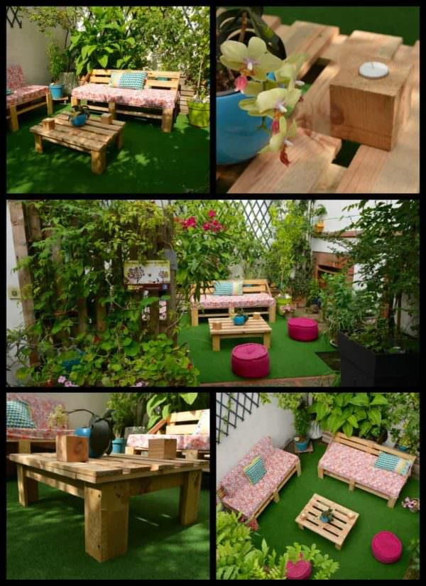Mobilier De Jardin / Pallet Garden Furniture Lounges & Garden Sets
