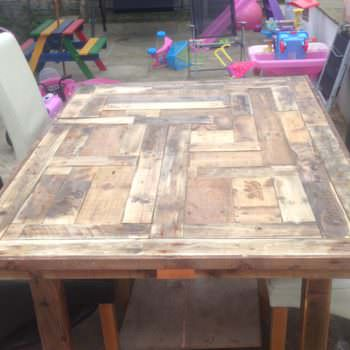 Mosaic Top Pallet Table