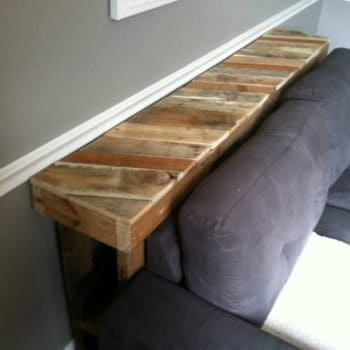 Narrow Pallet Couch Table