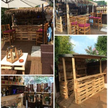 Outrageous Pallet Bar Out of 12 Reclaimed Pallets