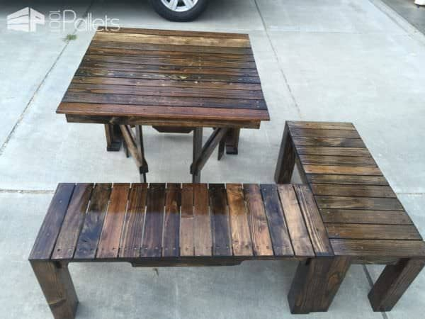 Pallet Balcony Lounge Set Lounges & Garden SetsPallet Benches, Pallet Chairs & StoolsPallet Desks & Pallet Tables