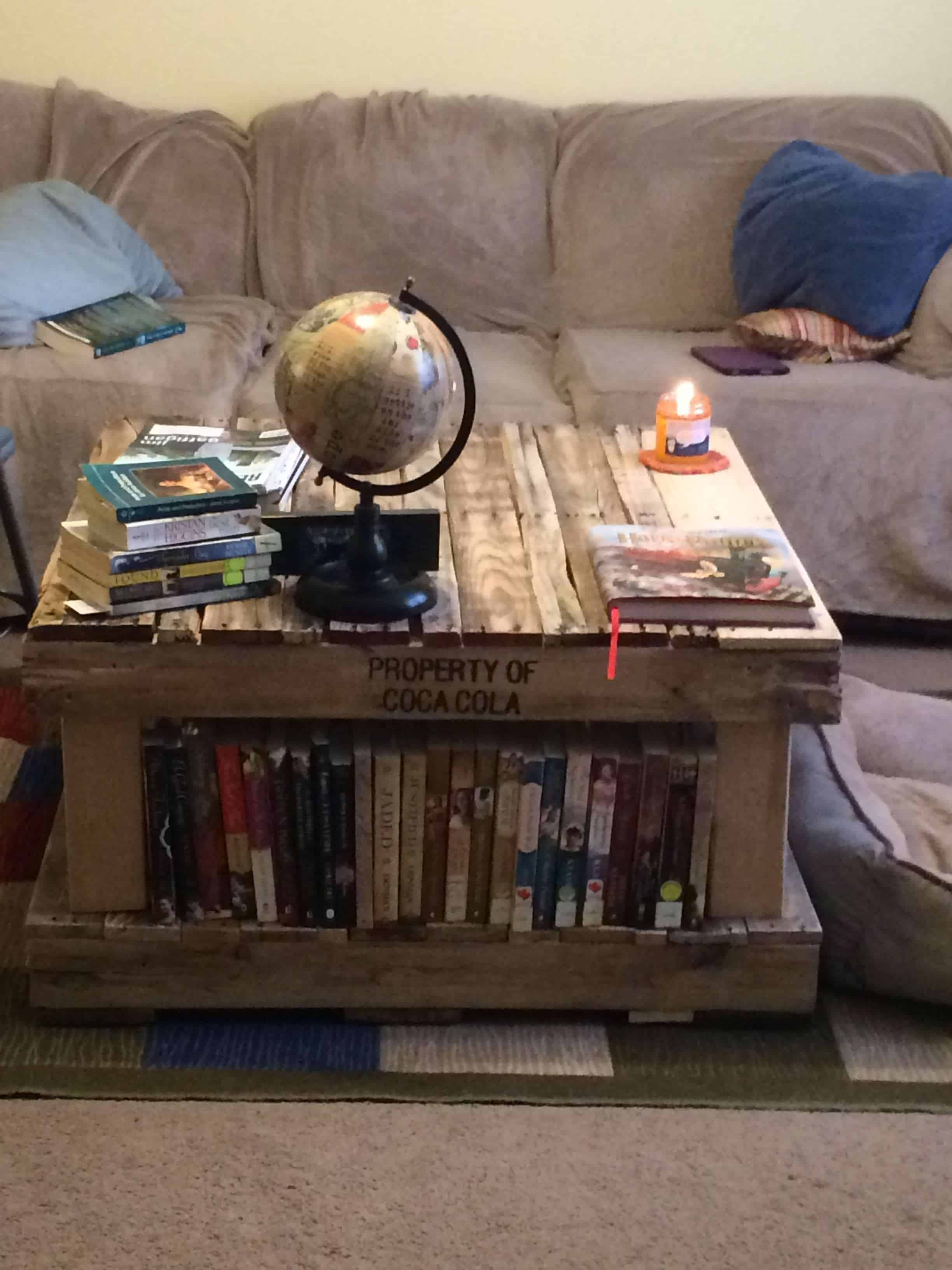 Pallet Coffee Table Bookshelves • 1001 Pallets