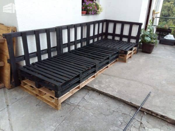 Pallet Corner Seating/Coffee Table Lounges & Garden Sets Pallet Benches, Pallet Chairs & Stools Pallet Coffee Tables