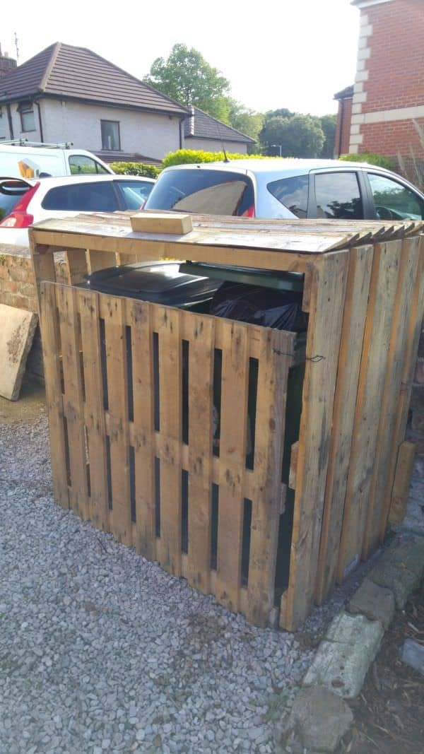 Pallet Garbage Bin Storage Shed Pallet Sheds, Pallet Cabins, Pallet Huts & Pallet Playhouses