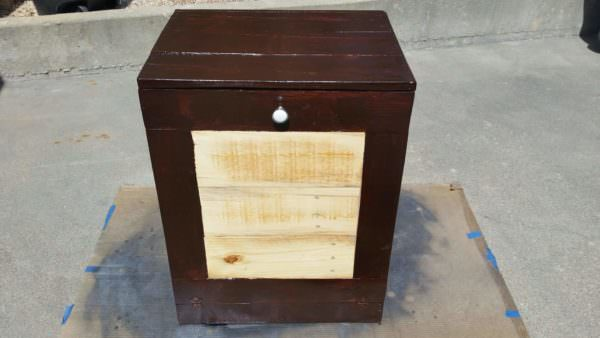 Pallet Kitchen Trash Bin Pallet Boxes & Chests Pallet Home Accessories
