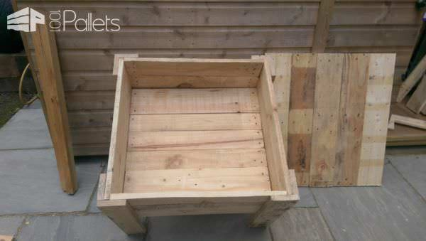 Pallet Sandbox With Lid Fun Pallet Crafts for KidsPallets in the Garden