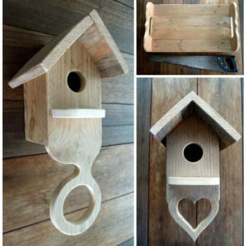 Pallet Serving Tray & Birdhouses