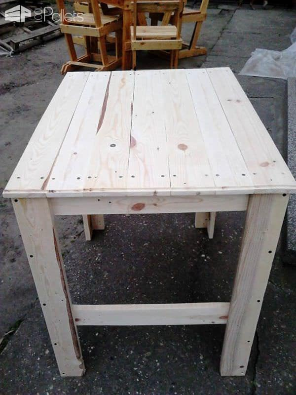 Pallet Table Set Pallet Benches, Pallet Chairs & Pallet Stools Pallet Desks & Pallet Tables