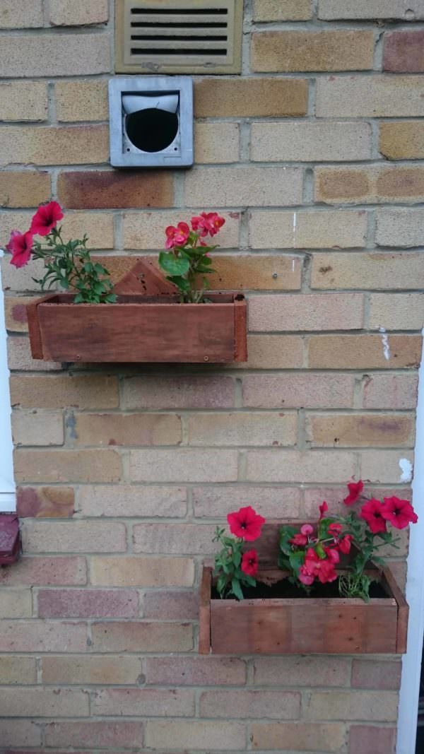 Pallet Wall Planters Pallet Planters & Pallet Compost Pallet Wall Decor & Pallet Painting