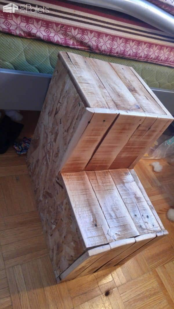 Recyled Pallet Dog Steps to Climb onto the Bed Animal Pallet Houses & Pallet Supplies Pallet Staircase