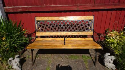 Refurbished Outdoor Bench With Pallet Wood