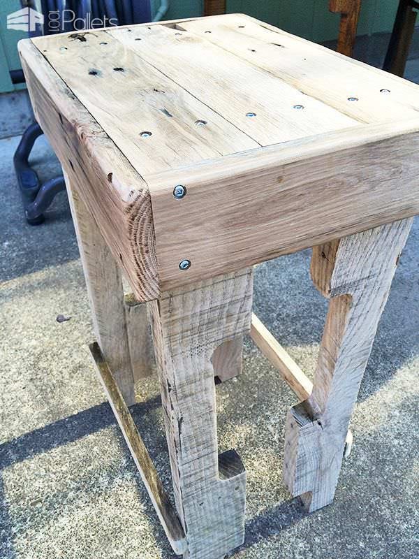 Rustic Pallet Bar Stools Pallet Benches, Pallet Chairs & Stools Pallet Home Accessories