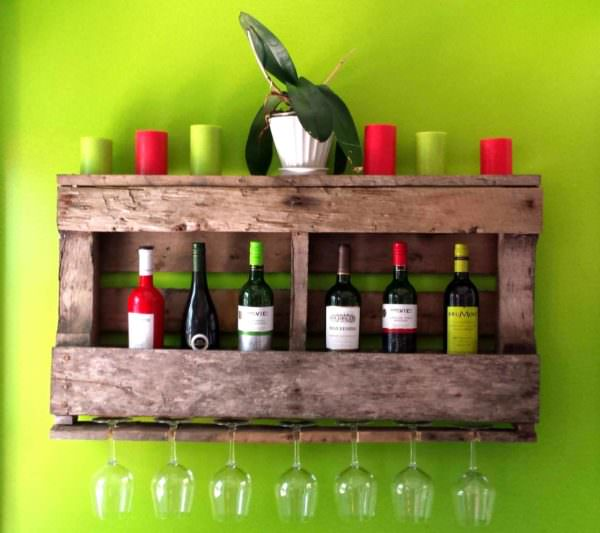 Rustic Pallet Wine Rack Pallet Home Accessories