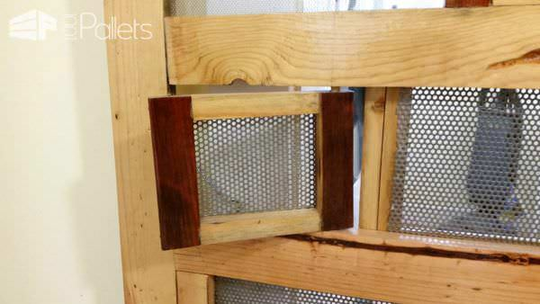 Screen Door out of Pallets Pallet Walls & Pallet Doors