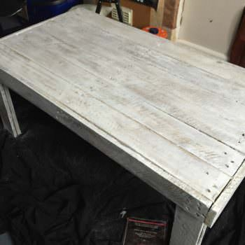 Simple, Rustic Pallet Coffee Table