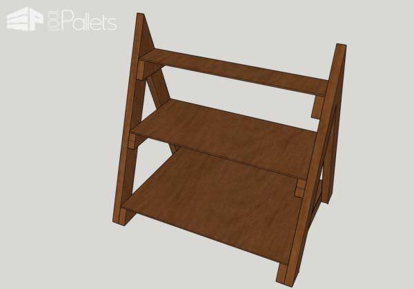 A-frame Pallet Shelving Unit Pallet Shelves & Pallet Coat Hangers Submitted Tutorials