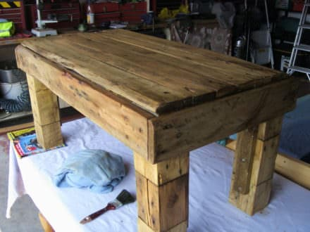 Block-leg Pallet Table