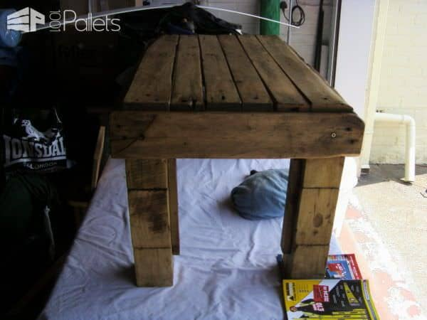 Block-leg Pallet Table Pallet Coffee Tables