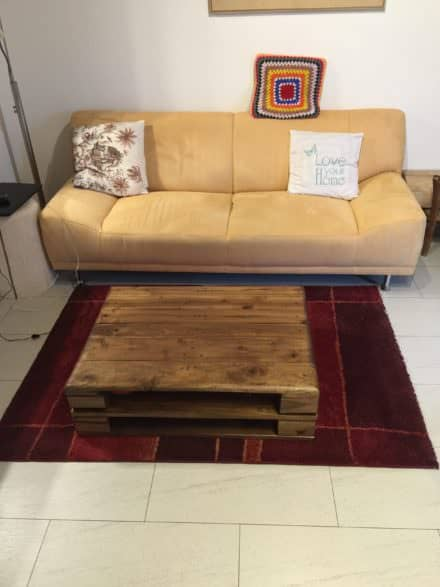 Euro Pallet Walnut Coffee Table / Tavolino Con Paletta Euro in Noce