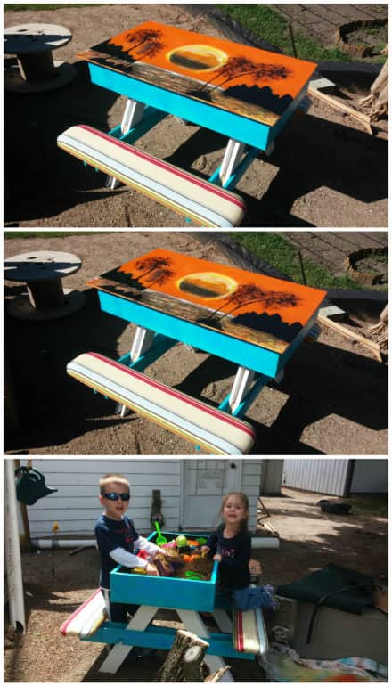 Kids Pallet Picnic/Sand Table