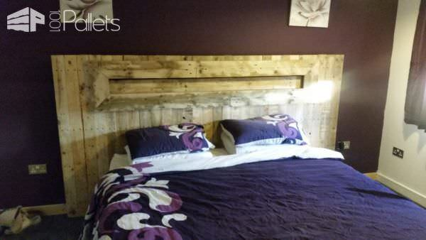 Led Backlit Pallet Headboard 1001 Pallets