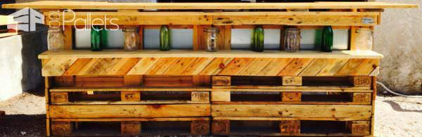 Led-lit Pallet Bar DIY Pallet Bars