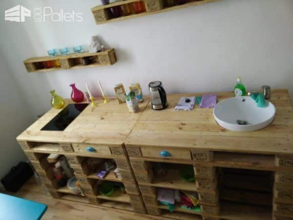 Mini Pallet Kitchenette for the Office DIY Pallet Bars