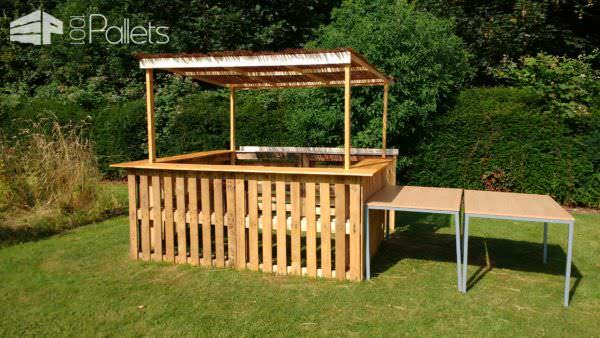 Outdoor Pallet Bar Pallet Bars