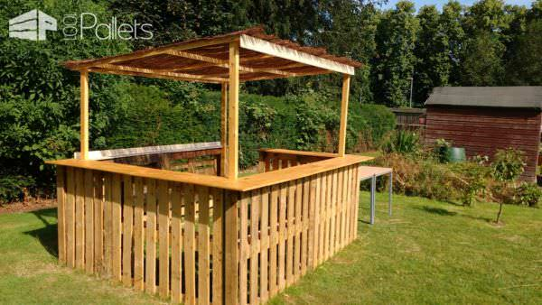 Outdoor Pallet Bar DIY Pallet Bars