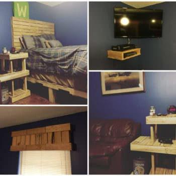 Pallet Bedroom Set