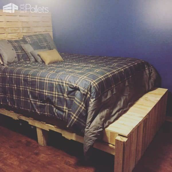Pallet Bedroom Set DIY Pallet Bed Headboard & FramePallet Desks & Pallet TablesPallet Shelves & Pallet Coat Hangers