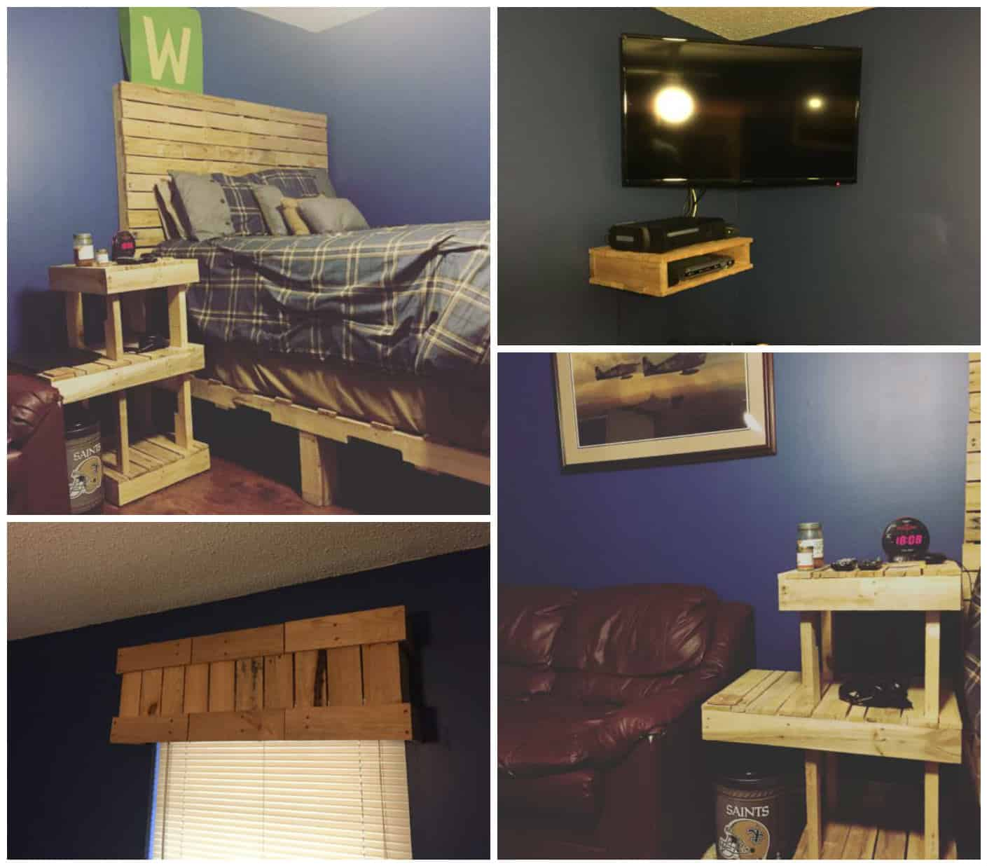 Pallet Bedroom Set 1001 Pallets