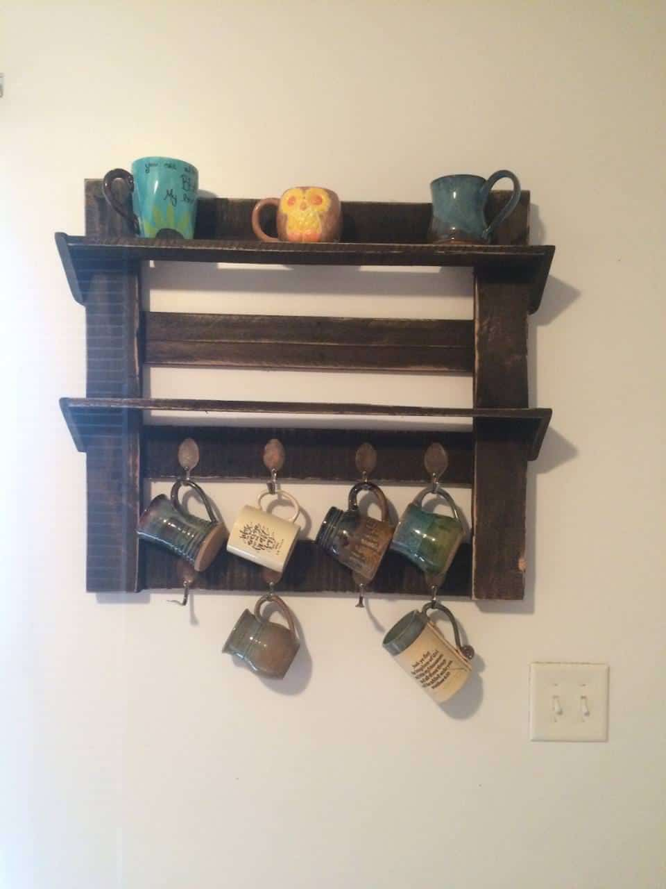 Pallet coffee cup holder 1001 pallets