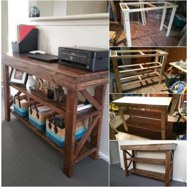 Pallet Computer Desk/Buffet Table Pallet Desks & Pallet Tables
