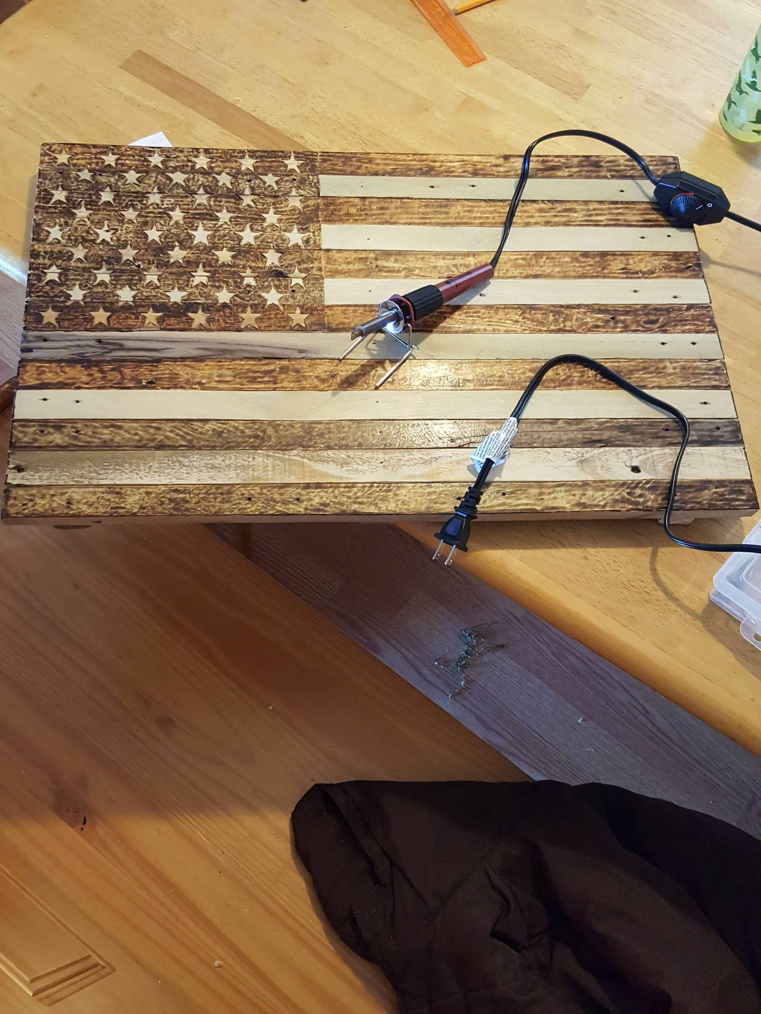Pallet Flag Pyrography 1001 Pallets