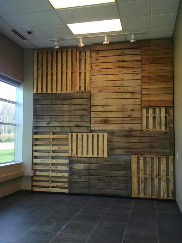 Pallet Wall Shelves Display