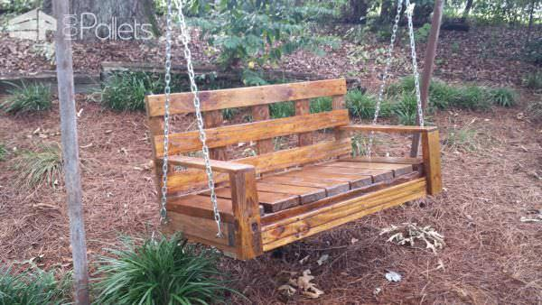 Pallet Garden Swing Pallet Benches, Pallet Chairs & Stools