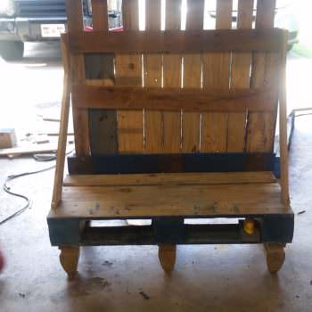 Pallet Hall Tree/Bench