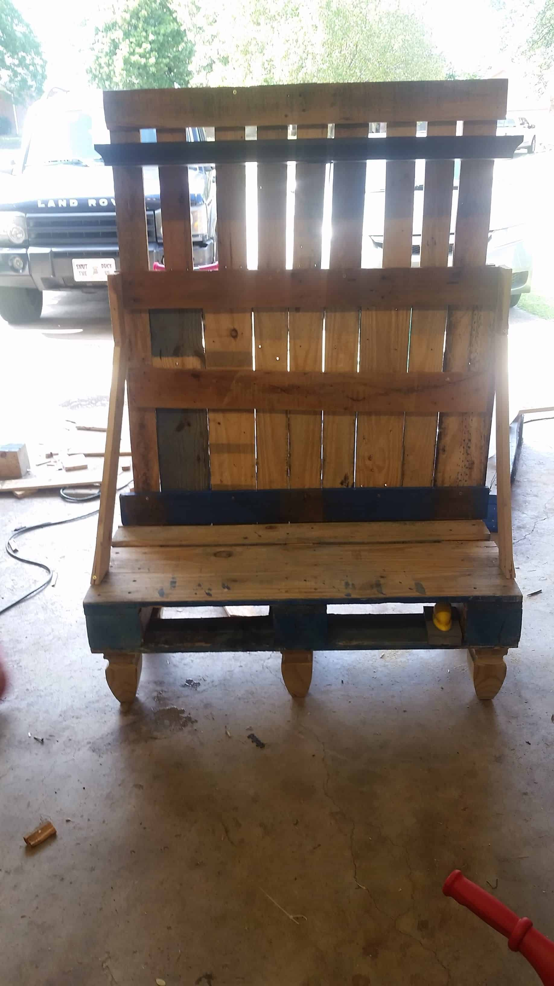 Pallet Hall Tree Bench 1001 Pallets