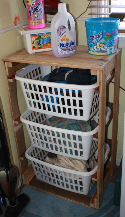 Pallet Laundry Sorting Station Pallet Home Accessories