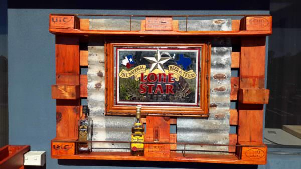 Pallet Mirrored Liquor Rack DIY Pallet BarsPallet Wall Decor & Pallet Painting